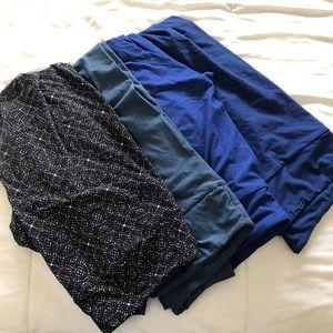EUC LLR leggings set of 4 TC